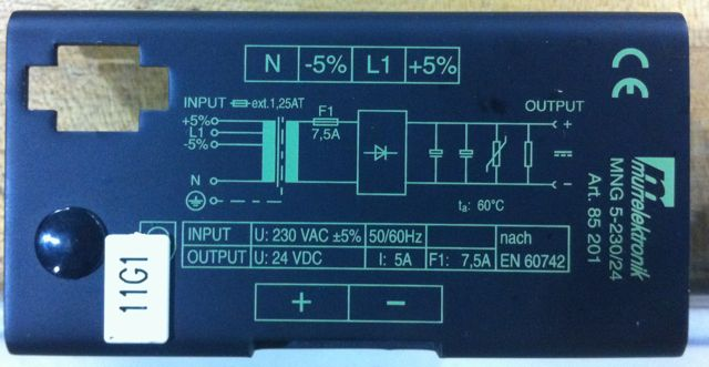 Small 230 AC to 24 VDC control transformer mystery