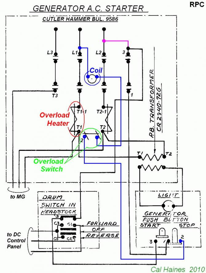 10ee Mg Starter Circuit With Cutler-hammer Contactor