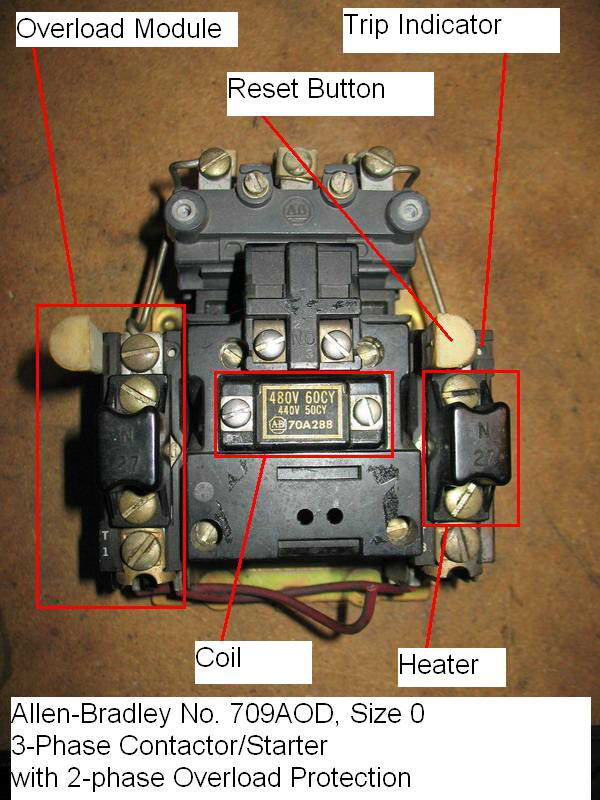 Allen bradley reversing motor starter wiring diagram for Single phase reversing motor starter