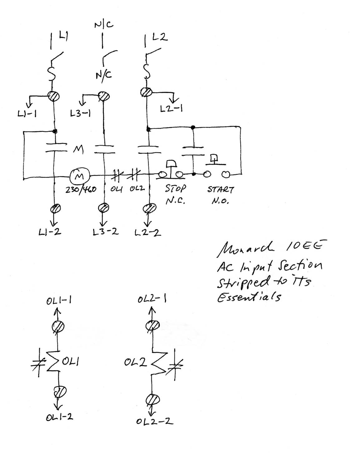 Single   phase    Power for MotorGenerator 10EEs