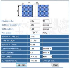 Dc contactor coil winding input information is the inductance the coil id and length and the wire gauge the wire size was unknown but several of the output parameters were known greentooth Image collections