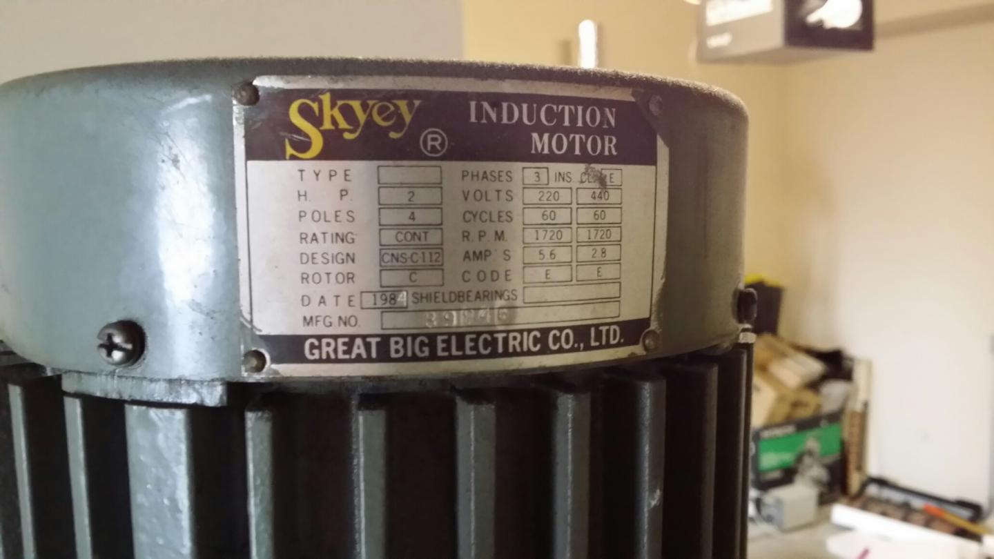 Need Help Identifying Voltage On A Skyey 2hp Motor