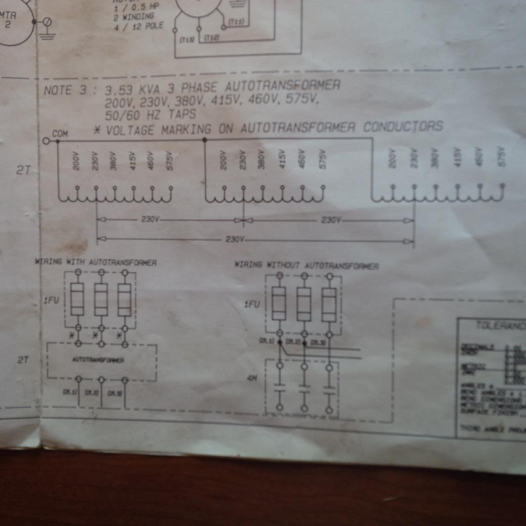 3 Phase Autotransformer Wiring Diagram 38 Images Note Circuit 105566d1398267370 Hardinge Tfb Do I Have Feed 575v Can Bypass Incoming Transformer