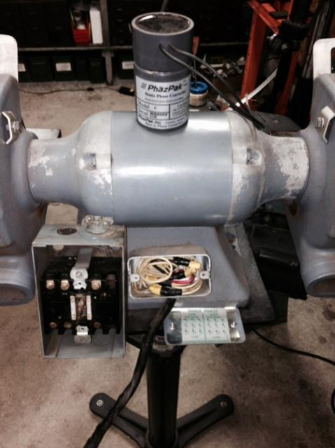 Help With Wiring 3phase Grinder  Static Converter