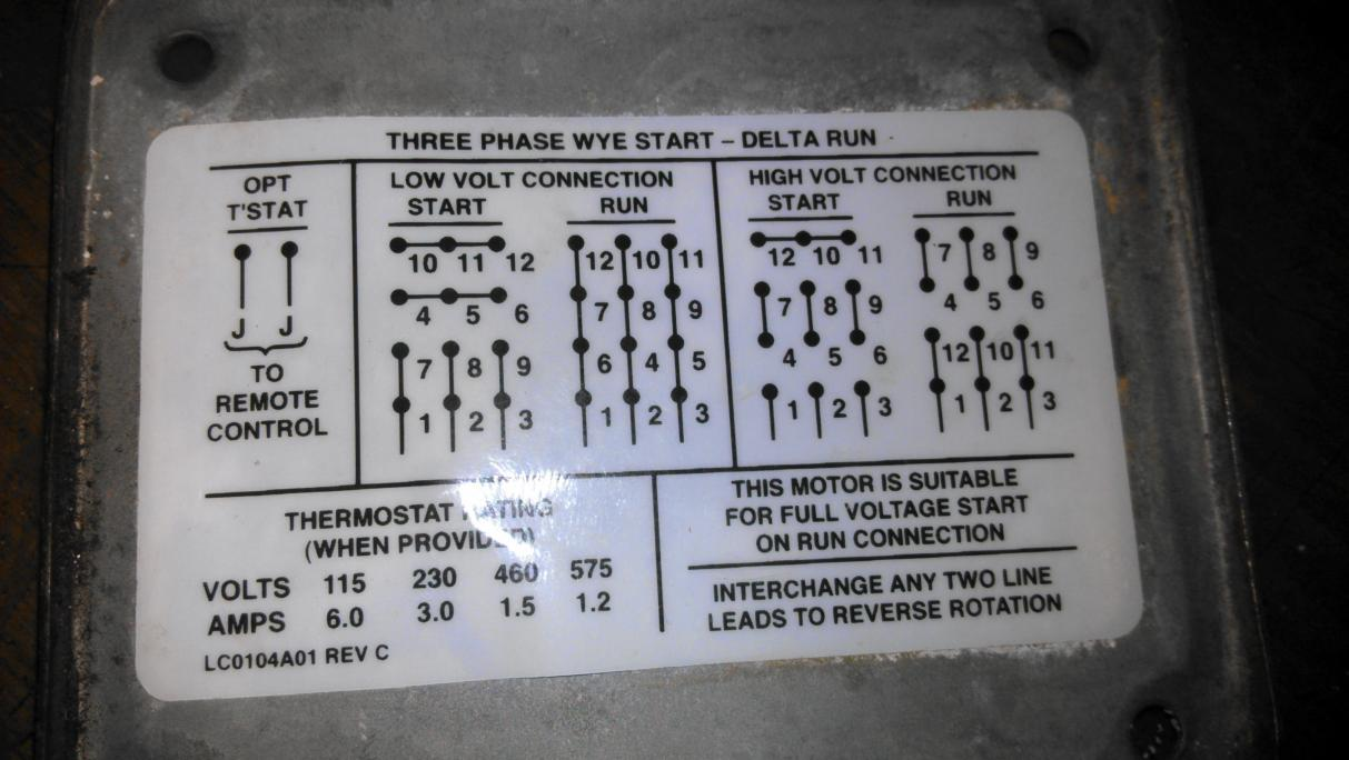 12 Lead Motor Delta Run Wiring Diagram Circuit Symbols Center U2022 Rh 45 63 64 79 Connection Ac