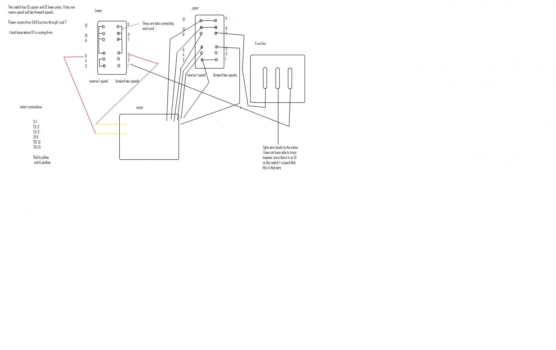 Three Phase Wiring Fuse Box Explained Diagrams Components Using Pony Motor And Capacitor Lathe 1