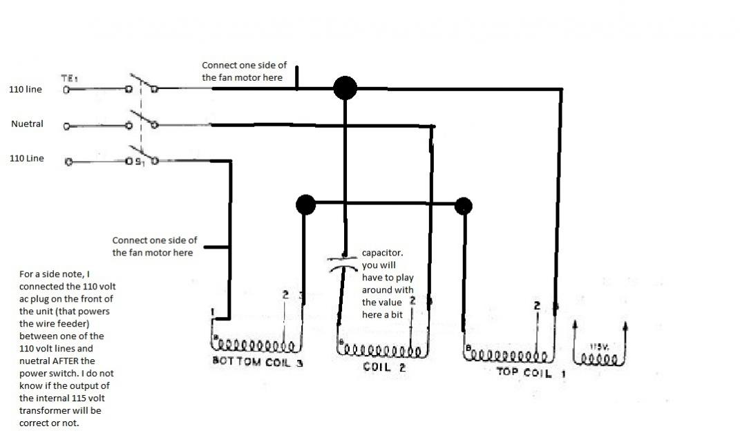 miller cp 230v converted to 240v single phase