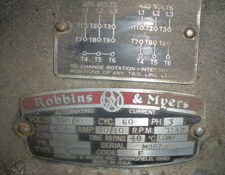 134403d1427119609 robbins myers 7 5hp 3ph motor open windings motorplate robbins & myers 7 5hp 3ph motor open windings? robbins and myers fan motor wiring diagram at crackthecode.co