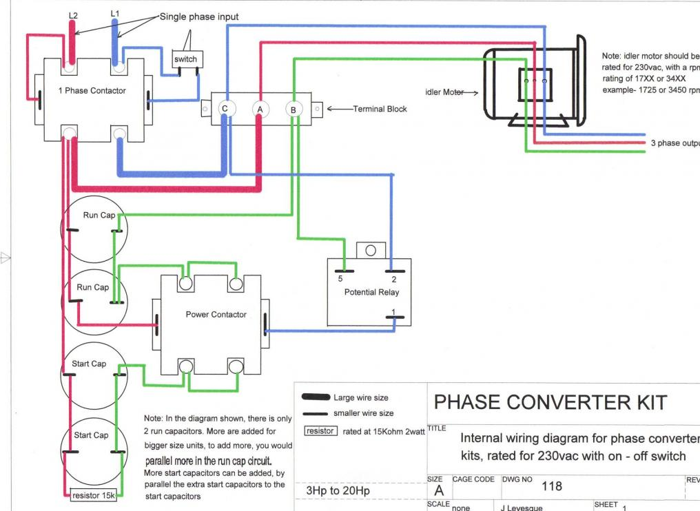 rotary phase converter help and troubleshooting rh practicalmachinist com wiring two rotary phase converter together wny rotary phase converter wiring diagram