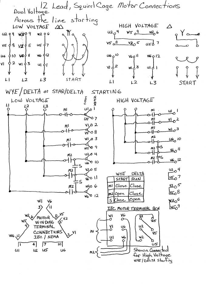 12 Lead Motor Star Delta Wiring Diagram - Wiring Diagram  Lead Volt Motor Wiring Diagram on motor control circuit wiring diagram, 220 volt single phase wiring diagram, autotransformer motor starter control diagram, step up and down transformer diagram, 240 single phase wiring diagram, 12 volt led light wiring diagram, 480 volt 6 lead motor, 480 volt motor brake, mercury vapor light wiring diagram, 120 volt wiring diagram, golf cart 36 volt battery wiring diagram, 36 volt club car battery wiring diagram, 208 volt motor wiring diagram, 240 volt motor wiring diagram, water pump control box wiring diagram, power transformer connection diagram, 1 phase motor wiring diagram, stop start motor wiring diagram, 110-volt outlet wiring diagram, induction motor wiring diagram,