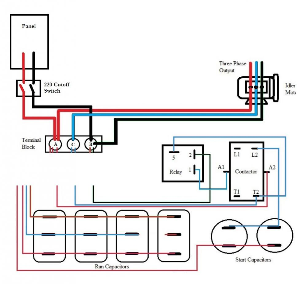 Transformer Wiring Diagram Furthermore Isolation Rotary Phase Converter Help And Troubleshooting Page 2 My Garage Hoist Balancing