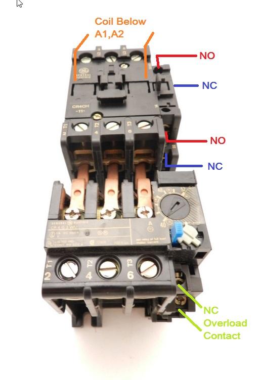 ge contactor wiring diagram automotive wiring diagram u2022 rh nfluencer co 3 Phase Contactor Wiring Diagram Start Stop Contactor Wiring Diagram