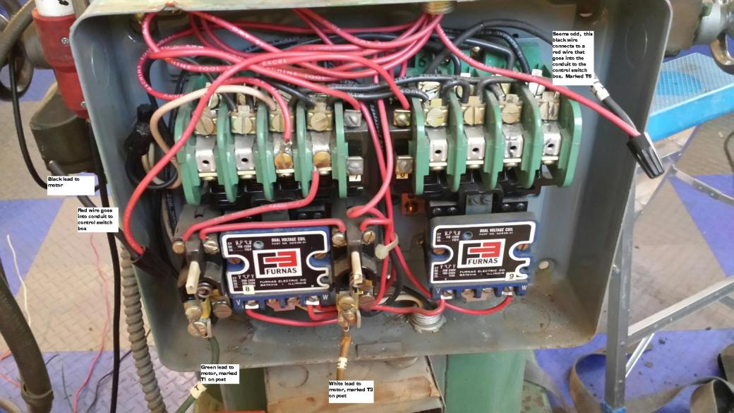 Wiring    help needed for a 1phase 220v reversing puzzle  South Bend    Mill