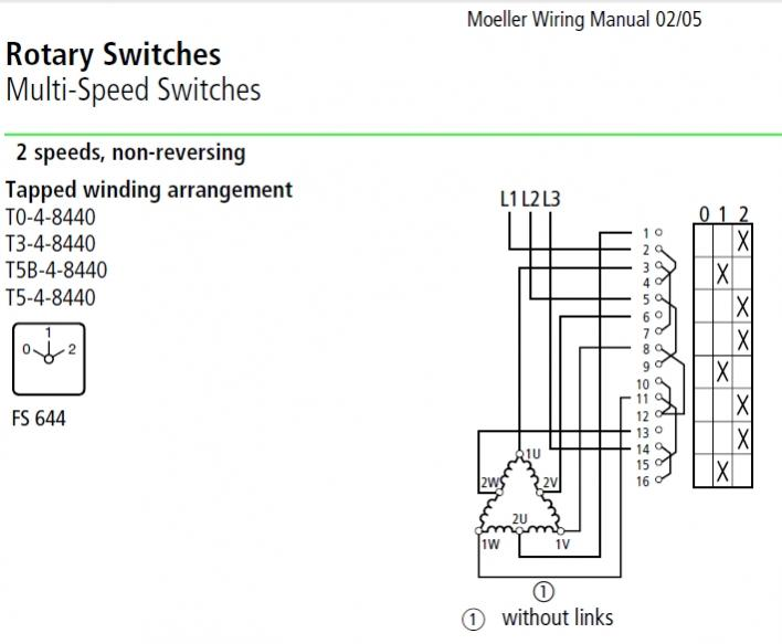 3 Ph  Dahlander 2 Speed 1 Winding  Motor  Switch Help