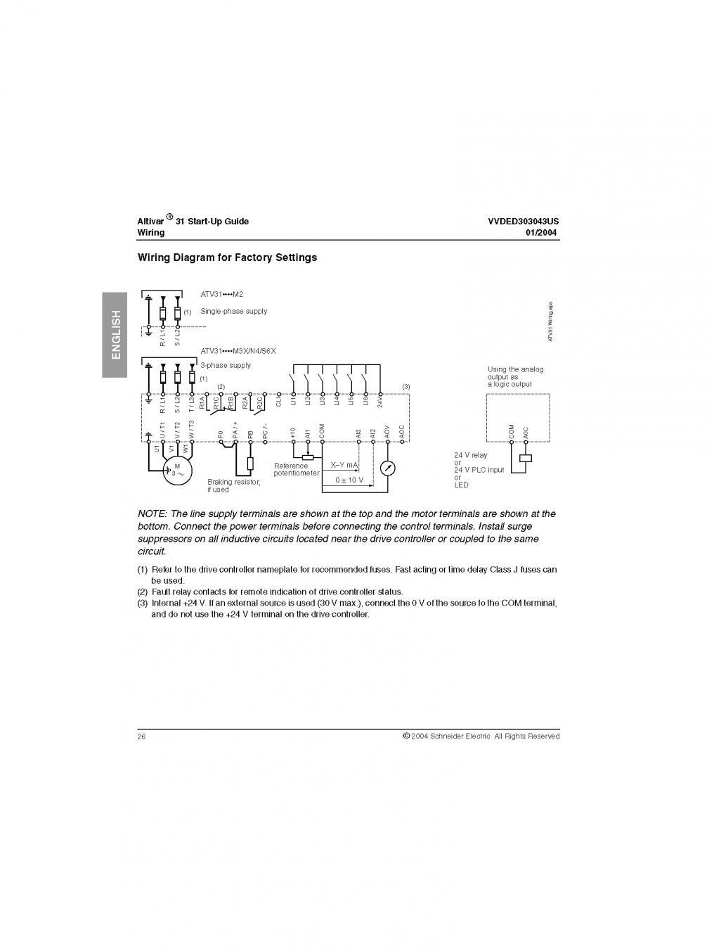 Wiring External Controls To Vfd  Altivar 31