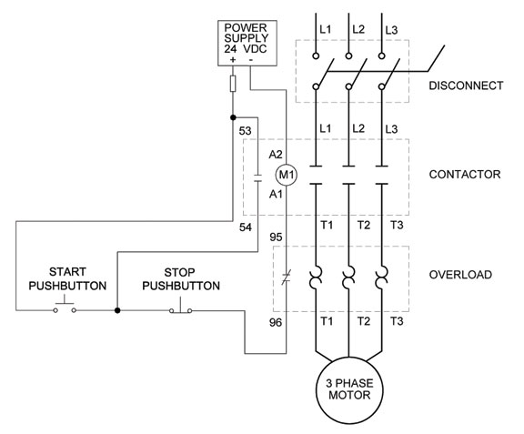start stop wiring diagram pdf help with a ghisalba 3 phase motor starter to do a ... simple start stop wiring  diagram #15