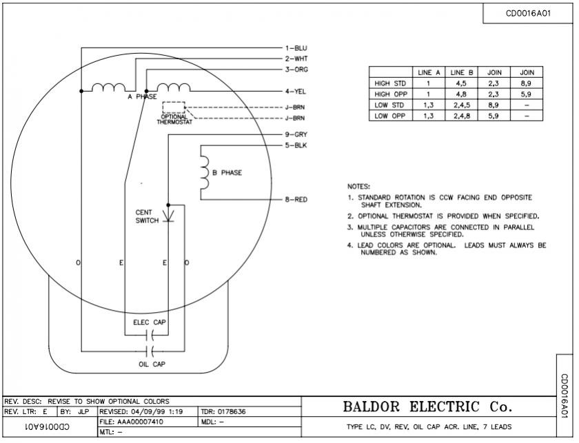 Wiring A Baldor Electric Motor Diagram : Baldor motor capacitor wiring diagram