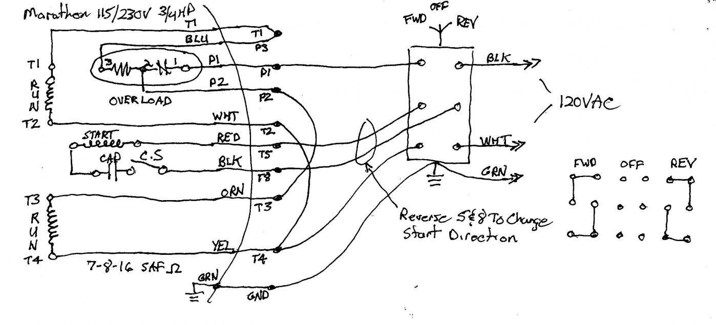 Marathon Furnace Wiring Diagram Reverse Switch Help For Newer Motor On Logan Lathe 120vmarathonfurnacereversing