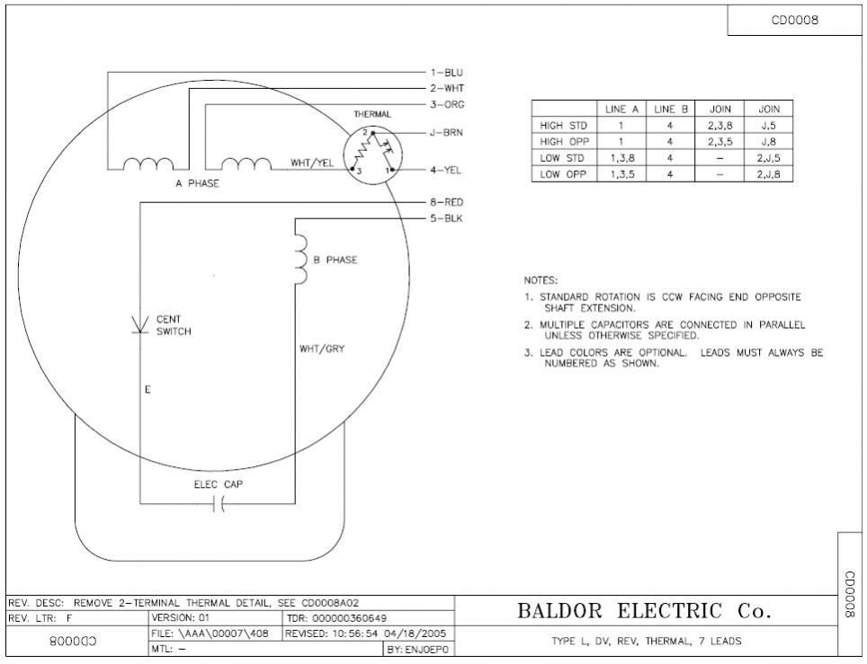 Charmant Baldor Schaltplan Einphasig Galerie - Elektrische ...