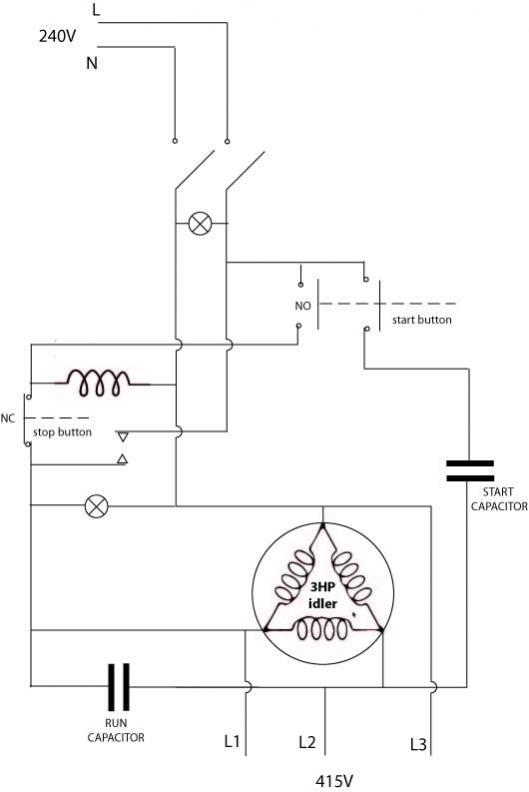 static phase converter wiring diagram 110v or 120v. Black Bedroom Furniture Sets. Home Design Ideas