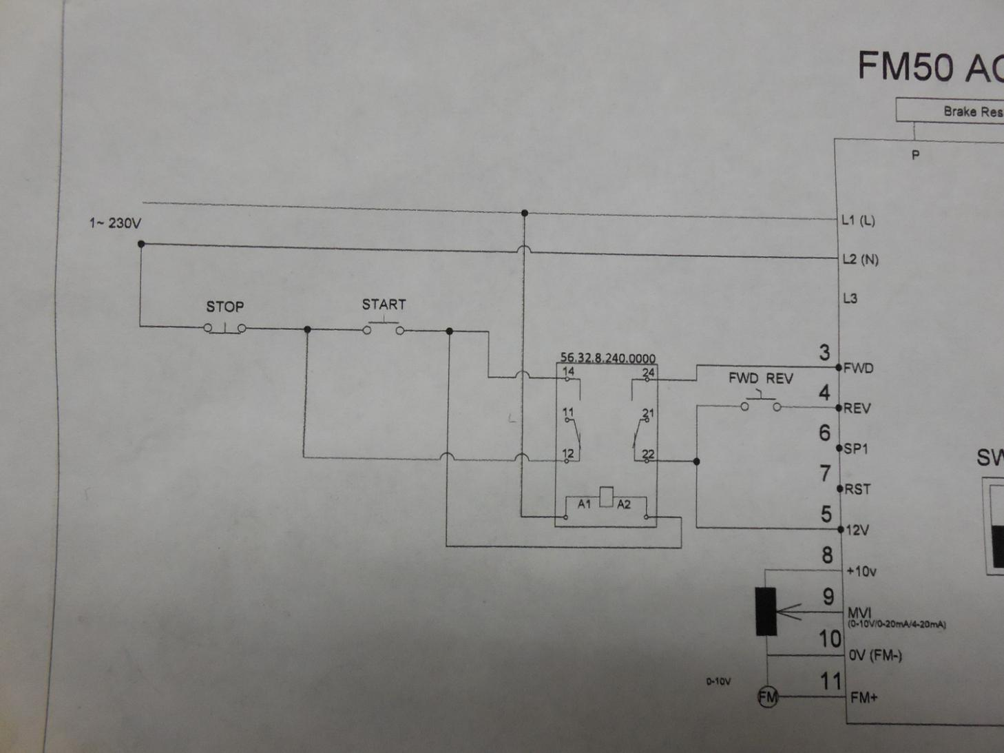 Teco N3 External Forward Reverse Stop State Relays Control The Motor And Operation Circuit Teco4
