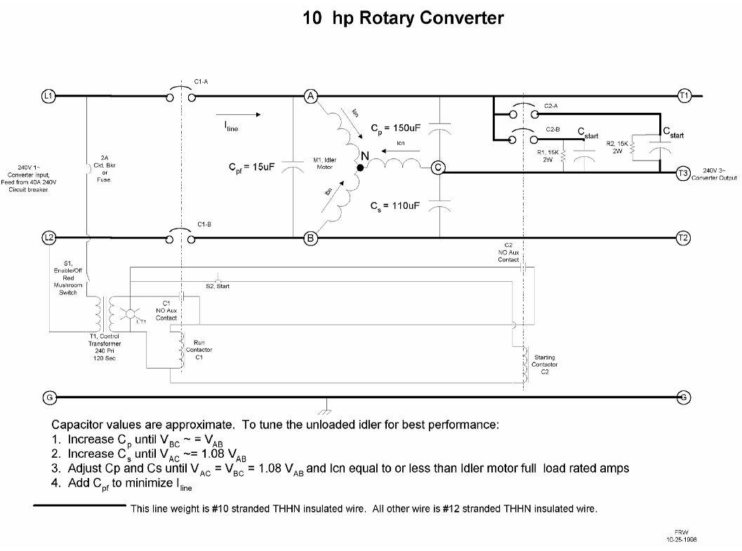192350d1488330149 rotary phase converter wont start help requested please fitchwconverter img rotary phase converter won't start, help requested please