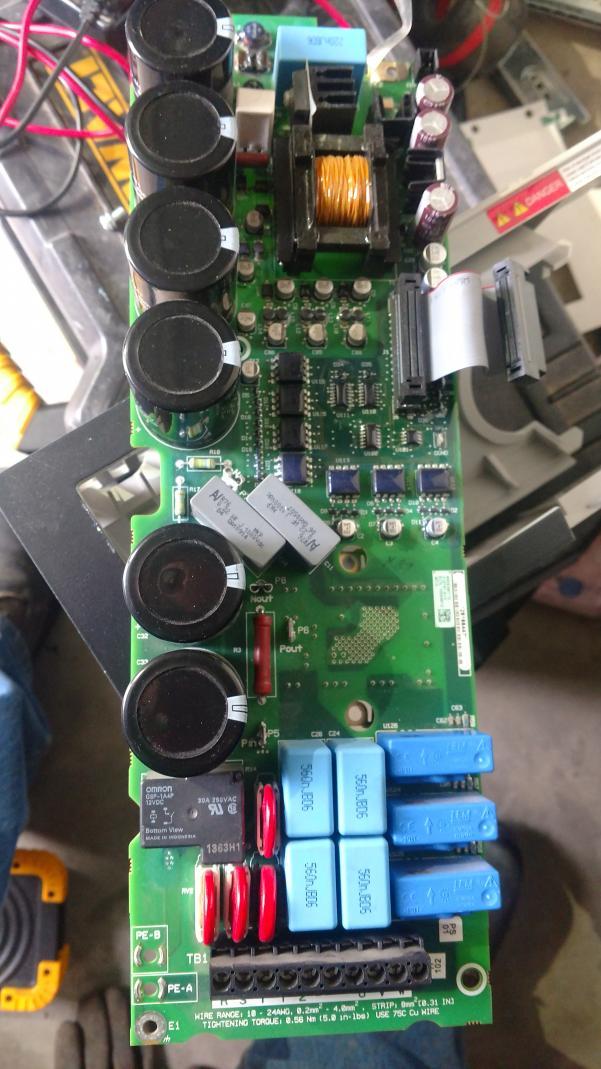 allen bradley power flex 735 frequency drive troubleshooting & repair