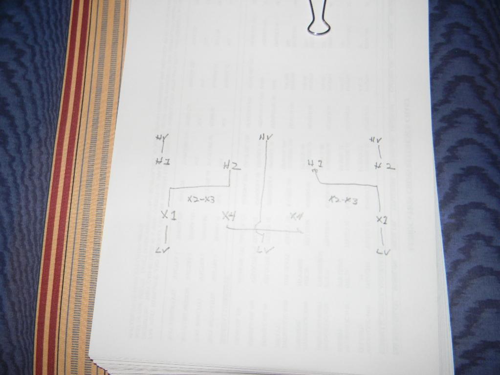 Open Delta transformer wiring
