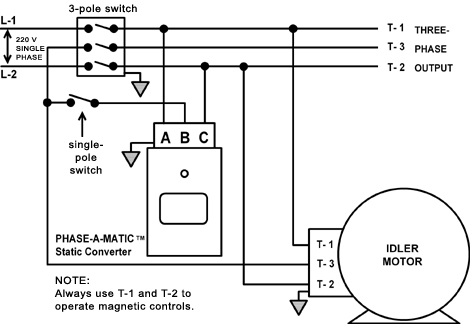static phase converter used to start an idler motor 240 well pump wiring diagram