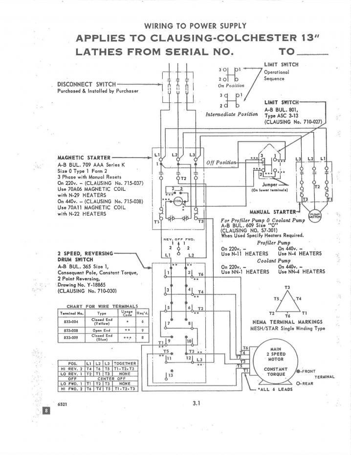 help with clausing colchester and vfd rh practicalmachinist com Wood Lathe Schematics Wood Lathe Schematics