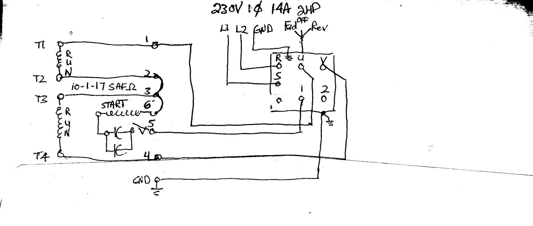 need help wiring single phase lathe