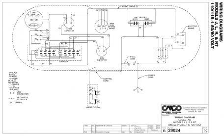 Help with CM frac12 ton electric hoist trouble shooting