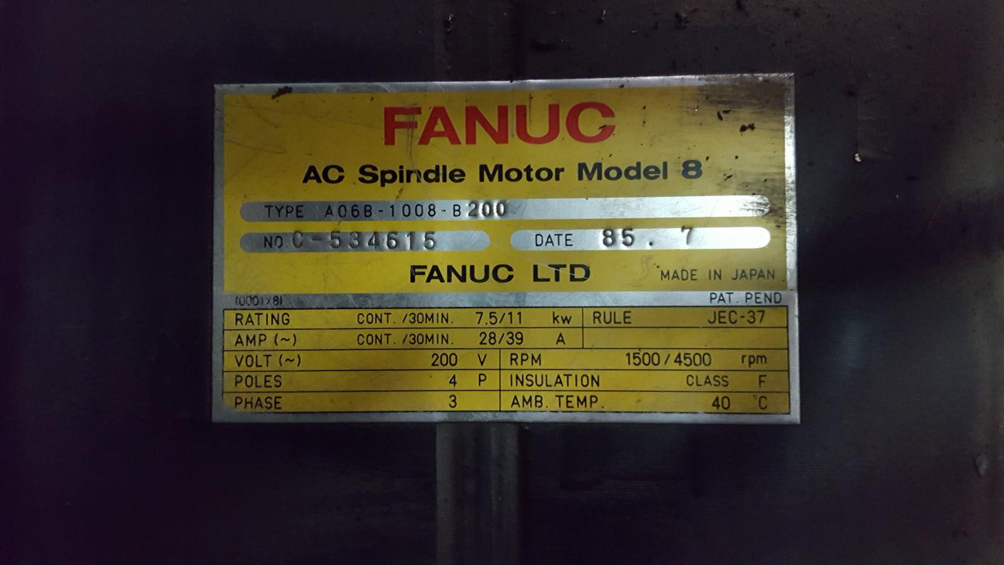 our vfd to keep the torque(as much as possible)in lower rpm? in  attachment are the picture of fanuc nameplate, and the manual for aci  frequency drive