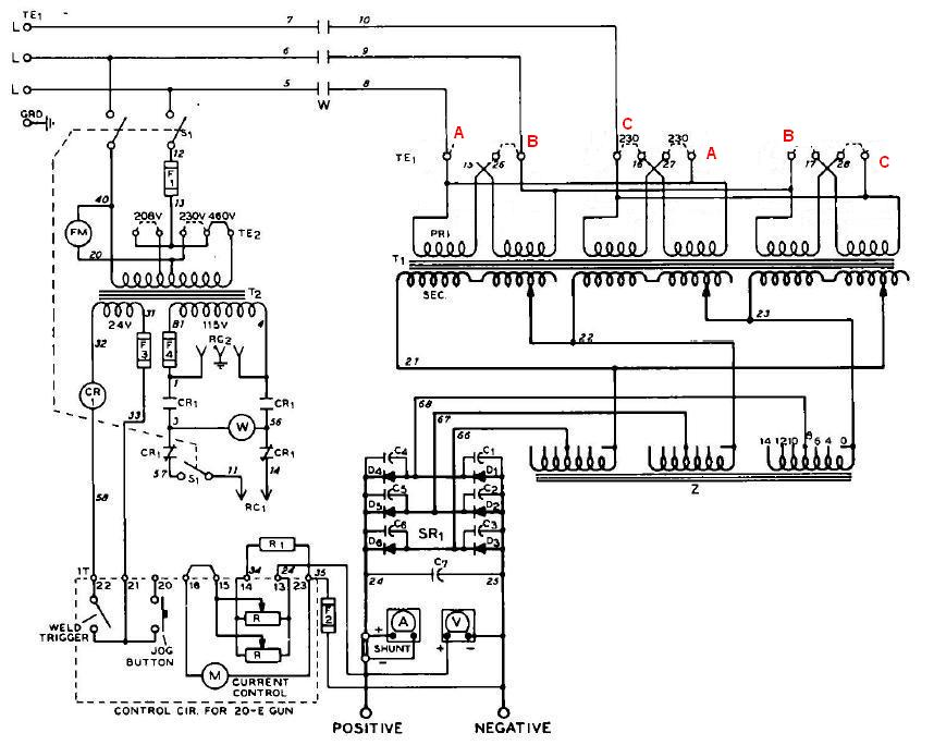 23915d1277341051 miller cp 250ts converted single phase schem before mod miller cp 250ts converted to single phase Basic Electrical Wiring Diagrams at nearapp.co