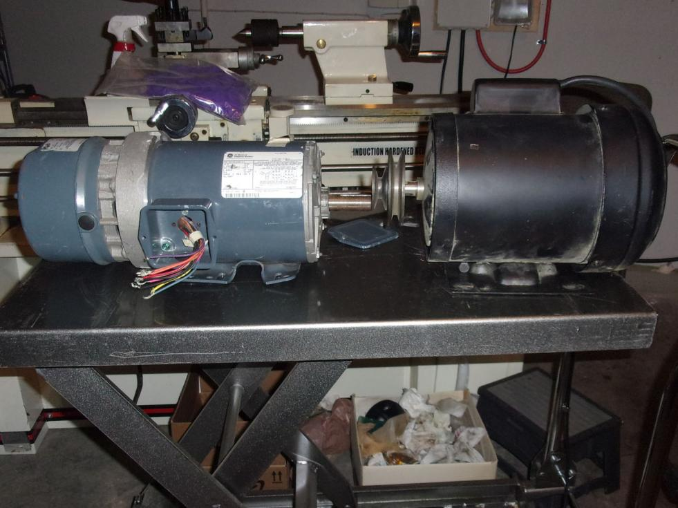 Jet BDB-1340 Lathe - 1,240 RPM Top Speed, Pulley Replacement, Motor