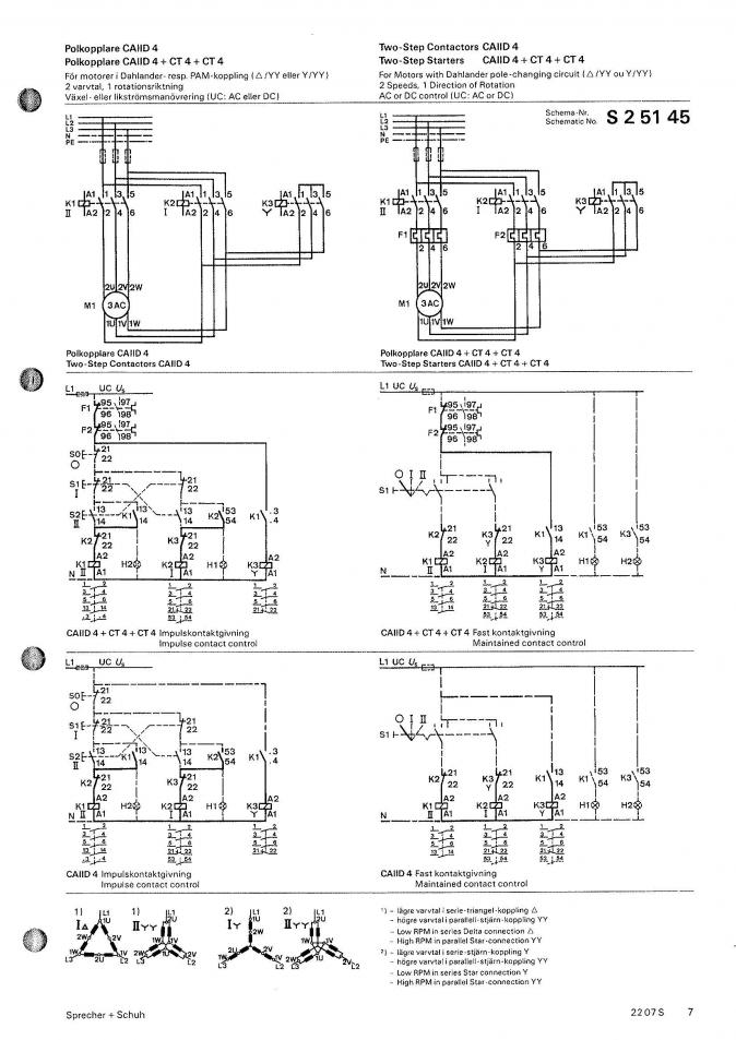 27411d1287940424 220 440v nameplate 2 speed motor changing voltage wiring s s contactor schematics dahlander diagram 220 440v nameplate on 2 speed motor changing voltage wiring? 208 3 Phase Motor Wiring at reclaimingppi.co