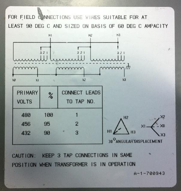 36835d1312266025 ot 208v three phase transformer question img_0353 480v transformer wiring diagram step down transformer 480v to 120v 208v lighting wiring diagram at aneh.co