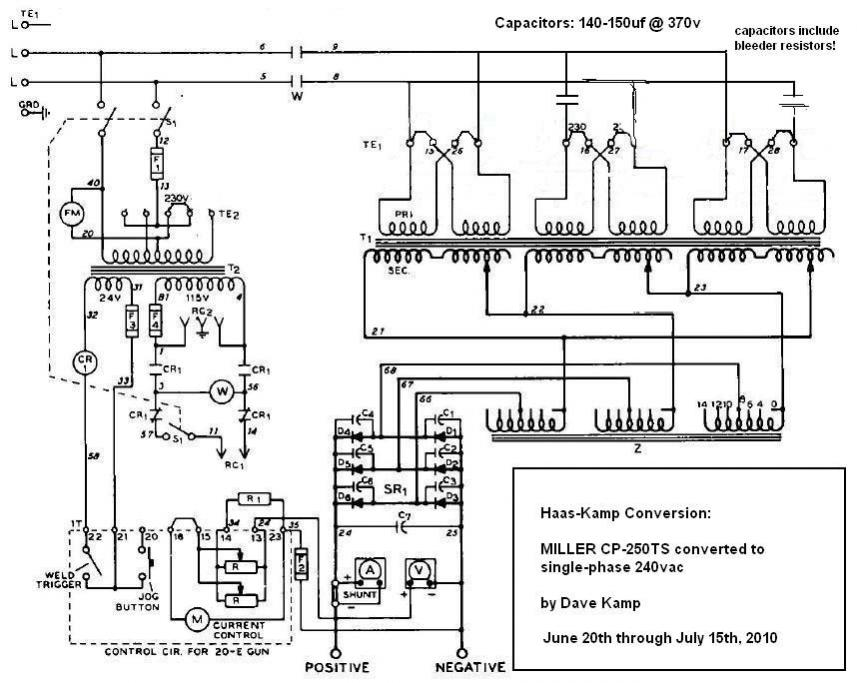 miller cp-250ts converted to single-phase - page 6 salvajor disposal wiring diagram single phase 208 eec wiring diagram single phase magnetic motor starter