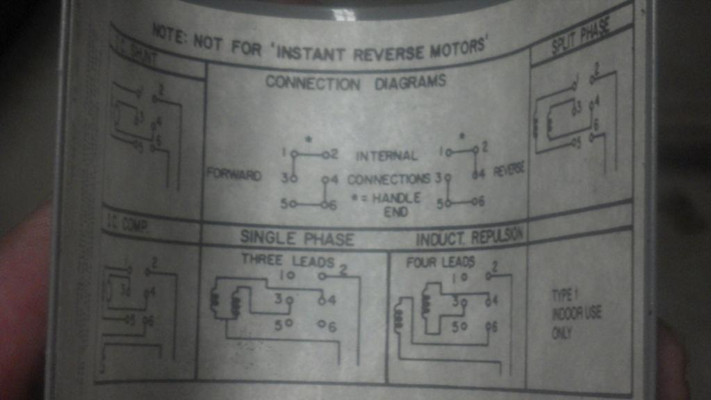 Wiring Diagram For Washing Machine Electric Motor : Help on wiring a drum switch to single phase v motor