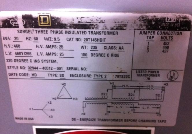 couple   phase transformer data plates  interpret