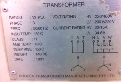 Couple More 3p Transformer Nameplates To Confirm  Photos
