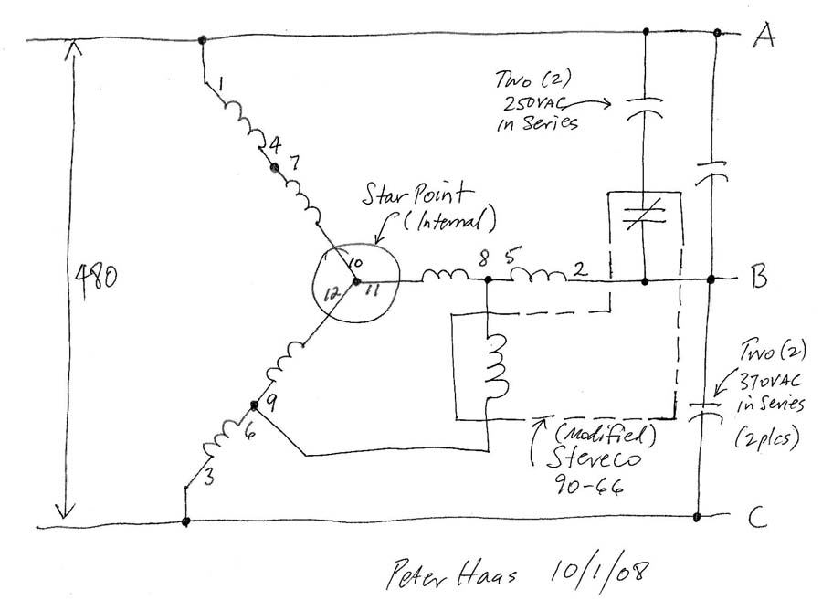 Three Phase Converter Wiring Diagram : V phase rotary converter help