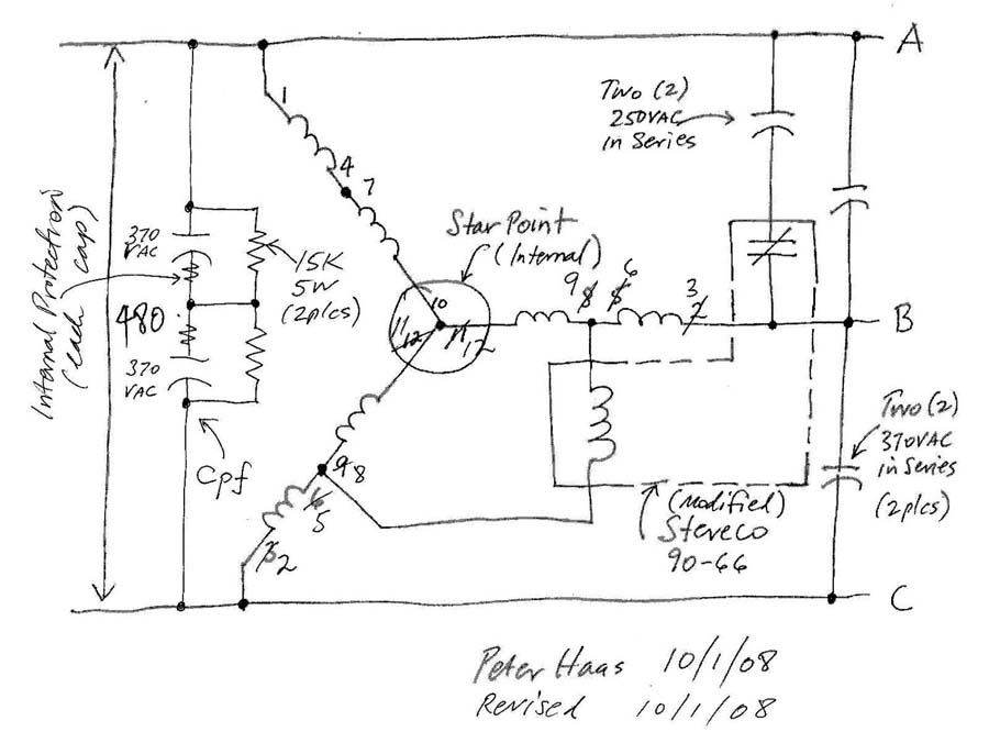 440v 3 phase rotary converter help
