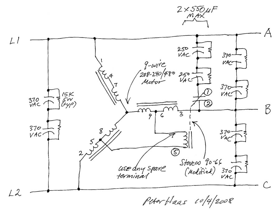 480 Motor Wiring Diagram Fig Winding Setup For A Slot Pole Squirrel