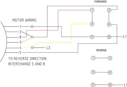 wiring drum switch to reverse single phase motor single phase motor reversing contactor wiring