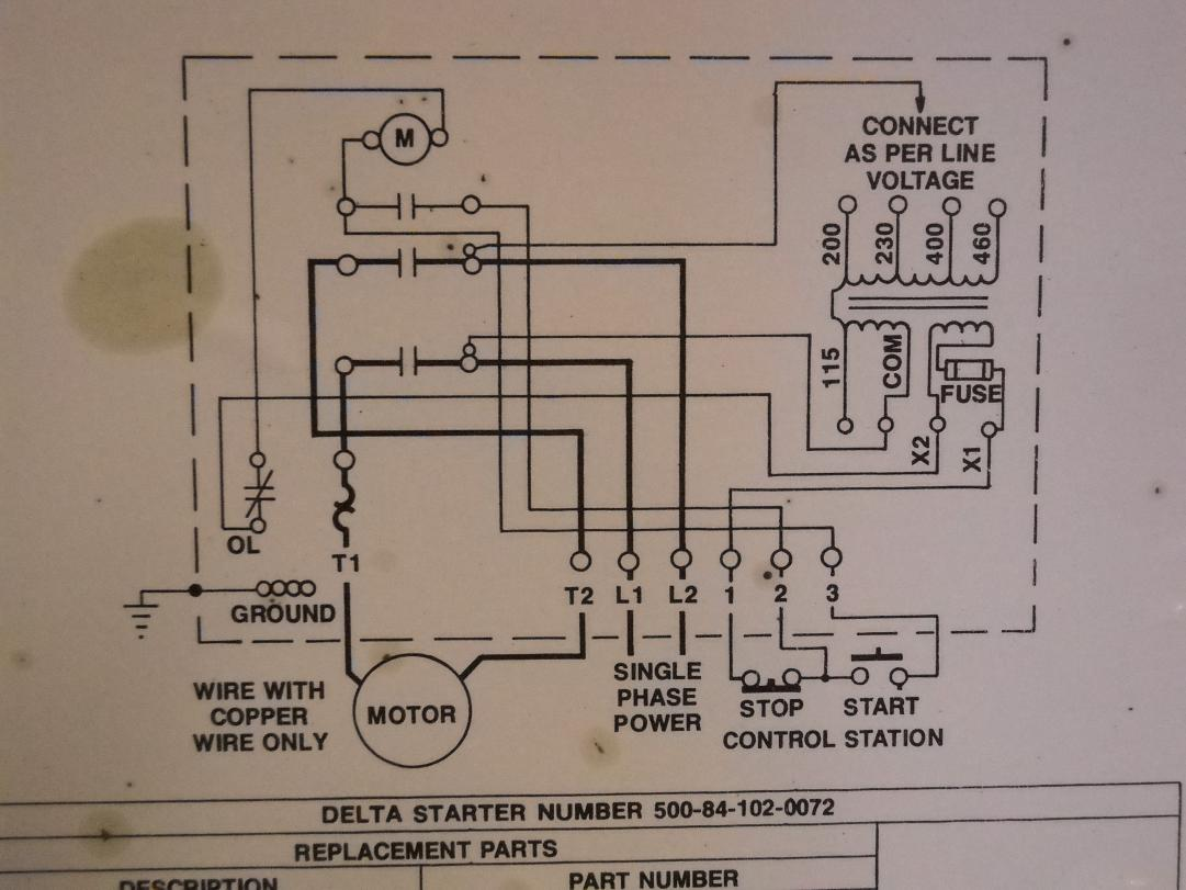 Magnetic Starter Wiring Diagram Guide And Troubleshooting Of Motor Free Eaton Cr306