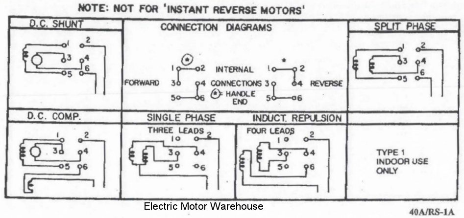 Weg Single Phase Motor Wiring Diagram : Help wiring a single phase motor with reversing switch for