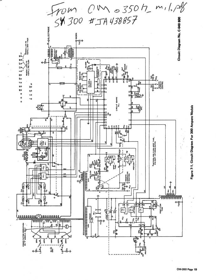 86657d1379883021 need help understanding 120v auxiliary circuit syncrowave 300 welder pages_from_om350h_mil need help understanding 120v auxiliary circuit in a syncrowave 300 Basic Electrical Wiring Diagrams at nearapp.co