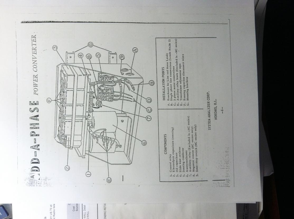 Phase Converter Issues Auto Transformer Wiring Diagram On 1000v Motor Aap1