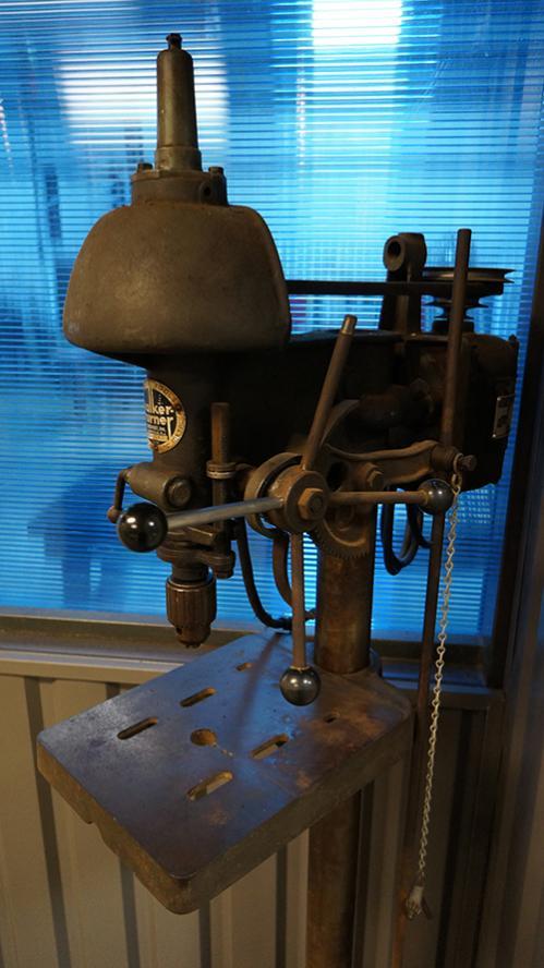 Walker Turner drill press, floor model w/foot pedal operator
